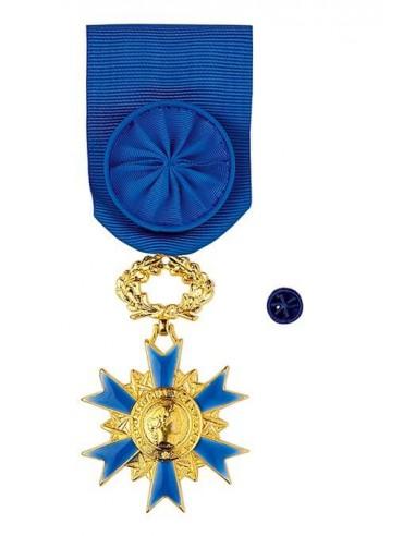 Croix d'Officier de l'Ordre National du Mérite en bronze doré. Rosette en option.
