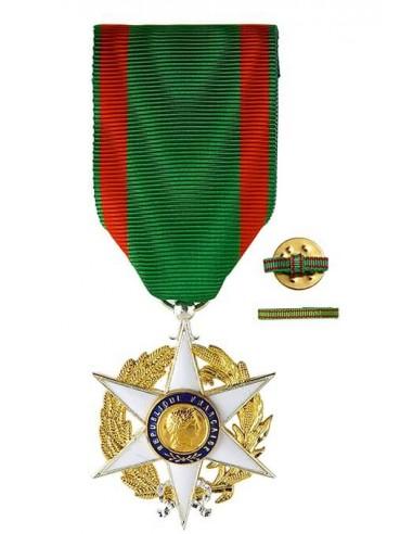 Croix de Chevalier de l'Ordre du Mérite Agricole en bronze argenté. Fixe ruban hommes ou femmes en option.