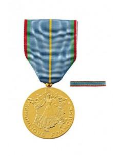 Médaille d'Honneur du Tourisme en bronze doré. Fixe ruban en option. La Médaille du Tourisme  s'offre traditionnellement présent