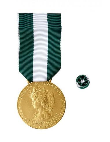 Médaille d'Honneur Régionale, Départementale et Communale Argent 30 ans en Bronze doré. Rosette en option.