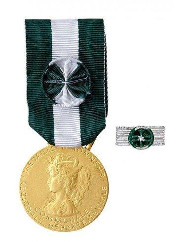 Médaille d'Honneur Régionale, Départementale et Communale Argent 35 ans en Bronze doré. Rosette en option.