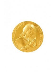 Médaille Or Reconnaissance des Bons Services en bronze doré. La Médaille Or Reconnaissance Bons Services s'offre traditionnellem