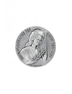 Médaille Argent Reconnaissance des Bons Services en bronze argenté. La Médaille Argent Reconnaissance Bons Services  s'offre tra