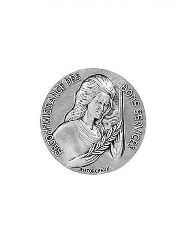 Médaille Argent Reconnaissance des Bons Services en bronze argenté.