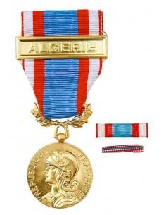 Médaille Croix du Combattant en bronze doré. Fixe ruban et barrette dixmude en option La Médaille Commémorative AFN  s'offre tra