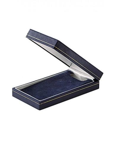 Ecrin simili-cuir pour médailles officielles - Dimensions : 11.6 x 6 x 2.5 cm.