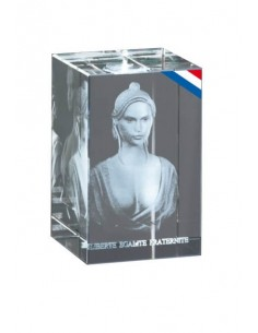 Bloc Marianne 3d - Dimensions : 8 x 5 x 5cm