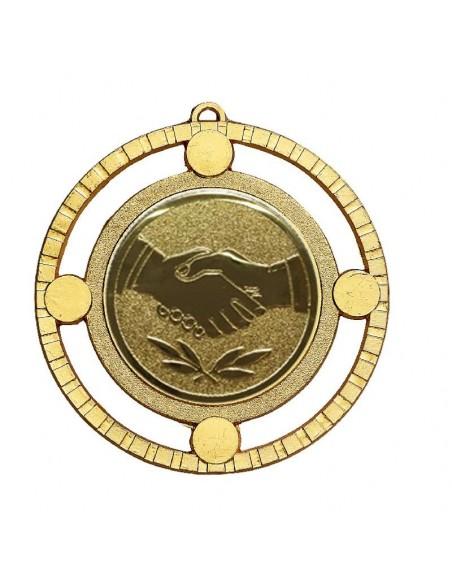 Médaille zamak 87mm Or, Argent et Bronze