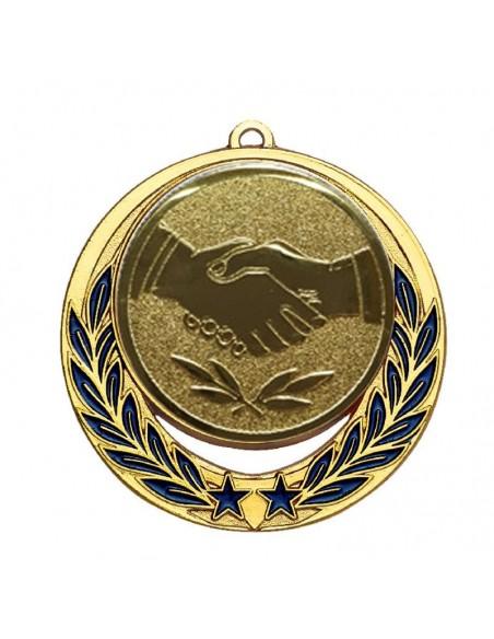 Médaille zamak ø70mm Or, Argent et Bronze / Bleu