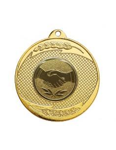 Médaille fer ø50mm Or, Argent et Bronze / Bleu