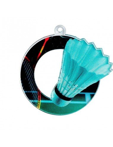 MEDAILLE ACRYLIQUE BADMINTON 50mm