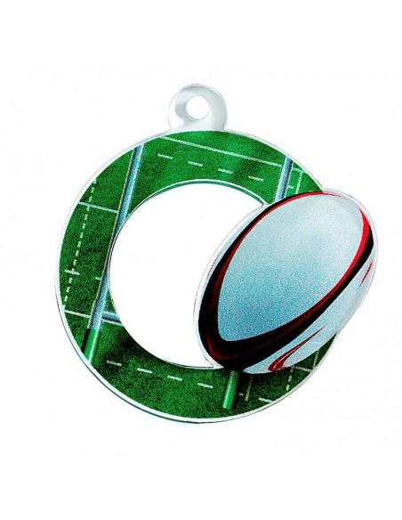 MEDAILLE ACRYLIQUE RUGBY 50mm
