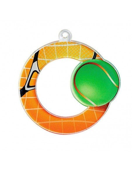 MEDAILLE ACRYLIQUE TENNIS 50mm