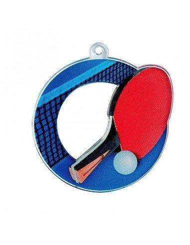 MEDAILLE ACRYLIQUE TENNIS DE TABLE 50mm