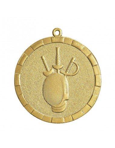 Médaille estampée fer Escrime 50mm Or, Argent et Bronze