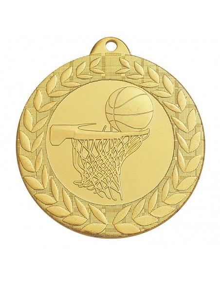 Médaille estampée fer Basket 50mm Or, Argent et Bronze