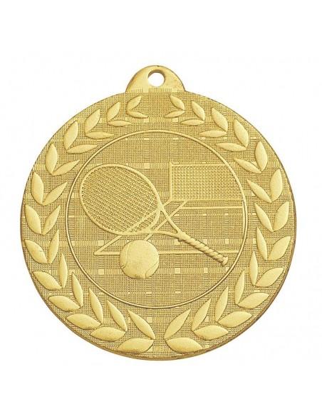 Médaille estampée fer Tennis 50mm Or