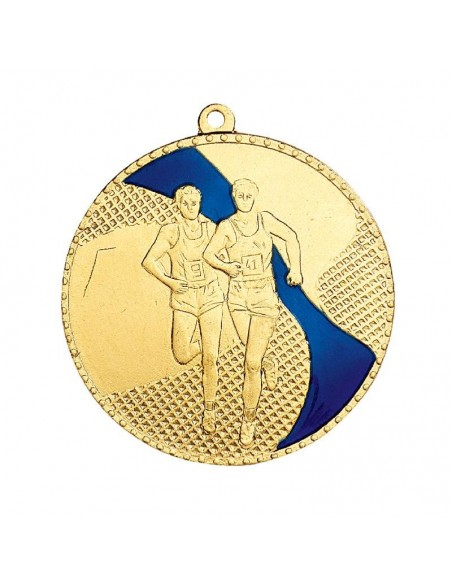 Médaille estampée fer Cross 50mm Or, Argent et BronzeBleu