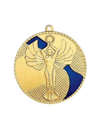 Médaille estampée fer Victoire 50mm Or, Argent et Bronze / Bleu