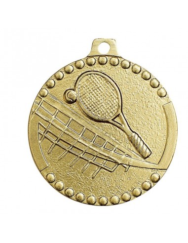 Médaille estampée fer tennis 32mm Or