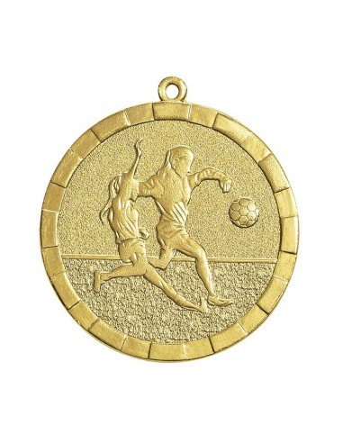 Médaille estampée fer Foot féminin 50mm Or
