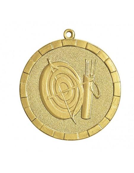 Médaille estampée fer Tir à l'arc 50mm Or