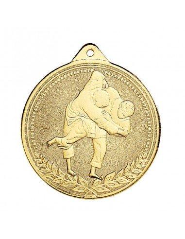 Médaille estampée fer Judo 70mm Or, Argent et Bronze