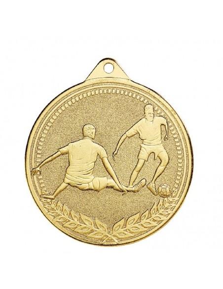 Médaille estampée fer Foot 70mm Or