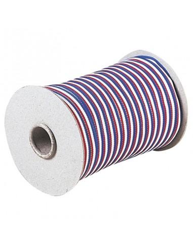 Rouleau Bleu / Blanc / Rouge 200m - Largeur 0.8cm