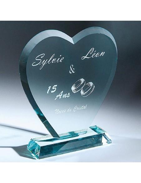 Trophée verre épaisseur 12mm hauteur 20cm