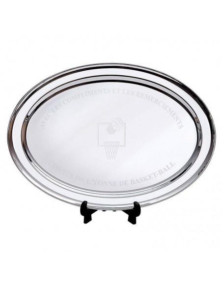 Trophée plateau métal - Dimension (cm) : 47 x 34