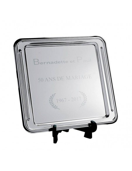 Trophée plateau métal - Dimension (cm) :28 x 26