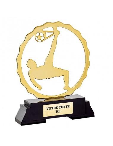 Trophée métal Football hauteur 19cm