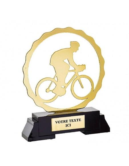 Trophée métal Cyclisme hauteur 19cm