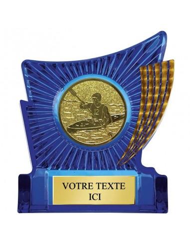 Trophée plastique bleu hauteur 13cm