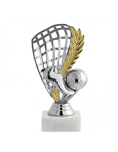 Trophée ABS foot argent/Or 14cm - Vendu par lot de 12
