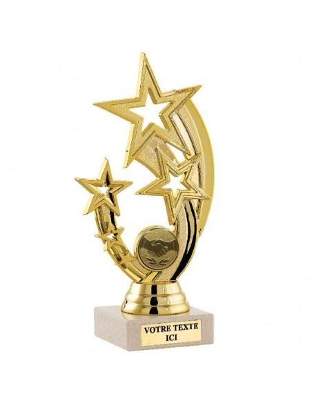 Trophée plastique étoile 18cm