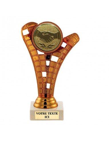 Trophée plastique couleur bronze 17cm