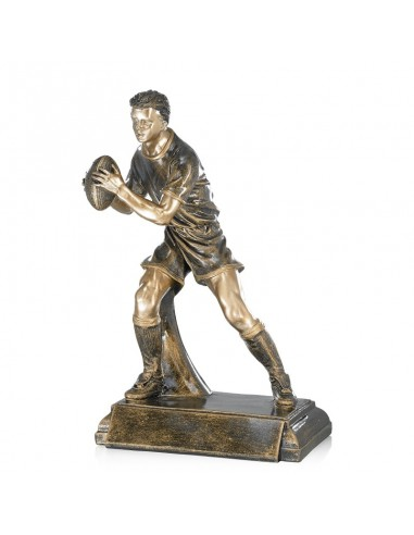 Trophée résine Rugby hauteur 40cm