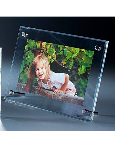Trophée plexi épaisseur 3+3mm hauteur 20x15cm. Procédé magnétique