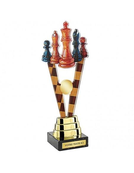 Trophée échecs 24cm