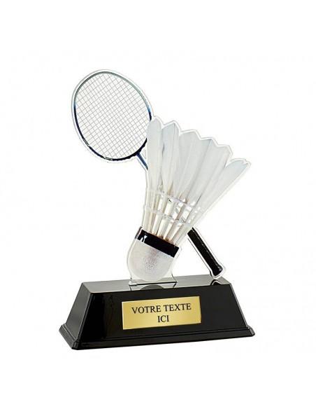 Trophée badminton 16cm