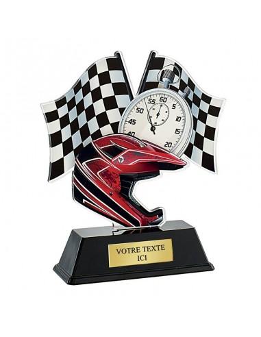 Trophée moto-cross 16cm