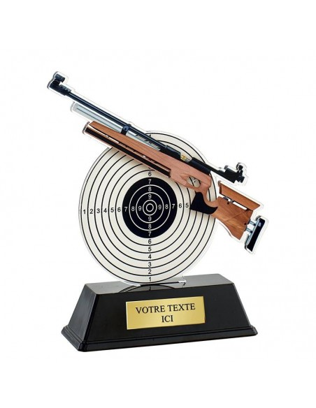 Trophée tir fusil 16cm