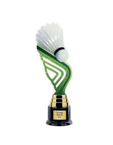 Trophée badminton 31cm