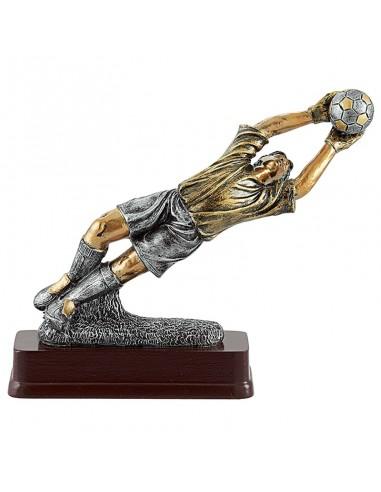 Trophée résine Gardien Foot hauteur 23X19 cm