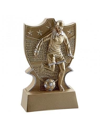 Trophée résine Foot Femme Eco 11 cm