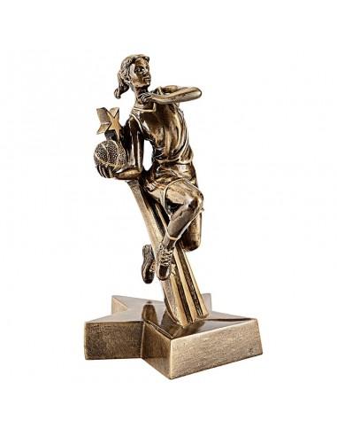 Trophée résine Joueuse de Basket hauteur 20 cm