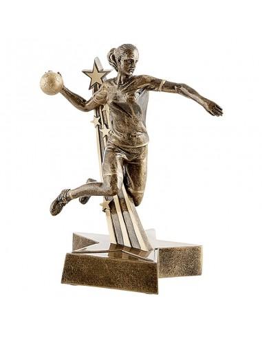 Trophée résine Handball Femme 21 cm