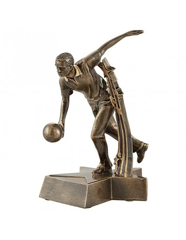 Trophée résine Bowling Homme hauteur 20 cm